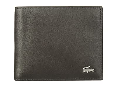 Lacoste Large Billfold and Coin Wallet (Dark Brown) Wallet Handbags