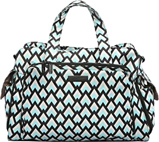 JuJuBe Be Prepared Travel Carry-on/Diaper Bag, Onyx Collection - Black Diamond