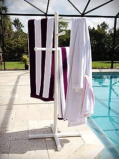 Pool & Spa Towel Rack Premium Extra Tall Towel Tree Outdoor PVC