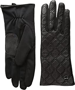 Calvin Klein - Quilted Zipper Gloves