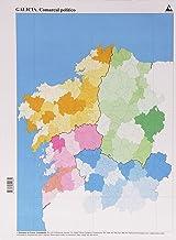 Mapa político Galicia Comarcal, pack de 50 unidades (Mapas mudos)