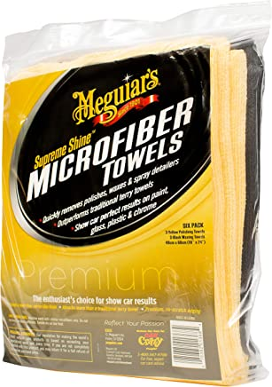Meguiar's Supreme Shine - Toallas de Microfibra Reutilizables (6 Unidades)