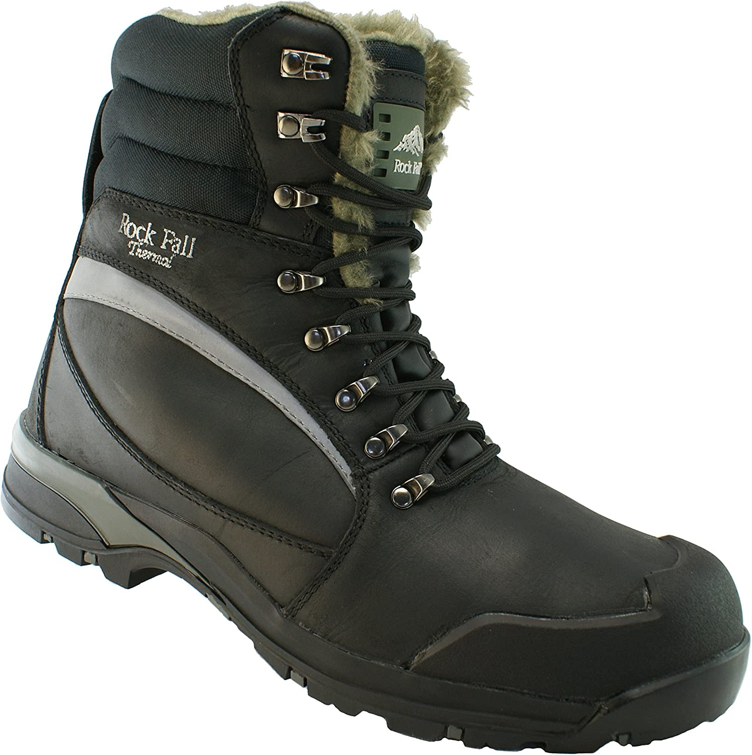 Rock Fall Alaska RF001 Black Thermal Lined Winter Safety Boots