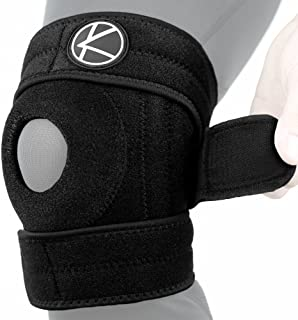 Copper Knee Brace - Best Open Patella Adjustable Knee Stabilizer Wrap & Plus Size Copper Knee Support for Arthritis Pain, ACL, MCL, LCL, Meniscus Tear, Sports, Exercise, Injury, Running, Women, Men