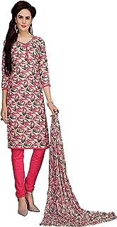 Minu salwar Cotton Printed Suit sets Pink(Elegance_2002)