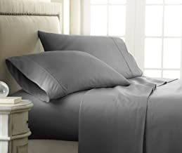 Becky Cameron 4 Piece Sheet Set Embossed Checker, FULL, CHECK GRAY