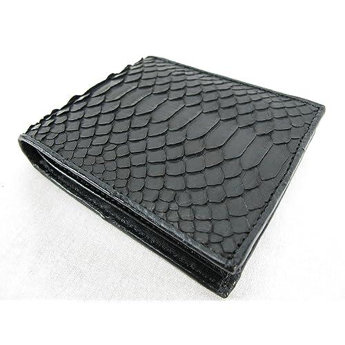 6937e36b47d3 PELGIO Genuine Python Snake Skin Leather Bifold Wallet