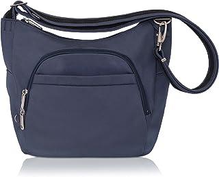 3f1123b68e48 Travelon Anti-Theft Cross-Body Bucket Bag (Blue - Exclusive Color)