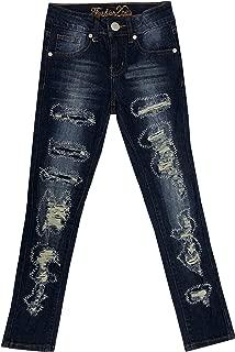 Fashion2Love Girls Kids Stretch Pockets Skinny Denim Jeans Or Shorts (MLG1)