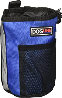 Dogline Dog Treat Pouch: Puppy Training Bag, Pet Kibbles and Snacks Holder, Litter Waste Bags Dispenser with Adjustable Dr...
