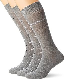 Emporio Armani Men's 3 Pack Short Socks, Black