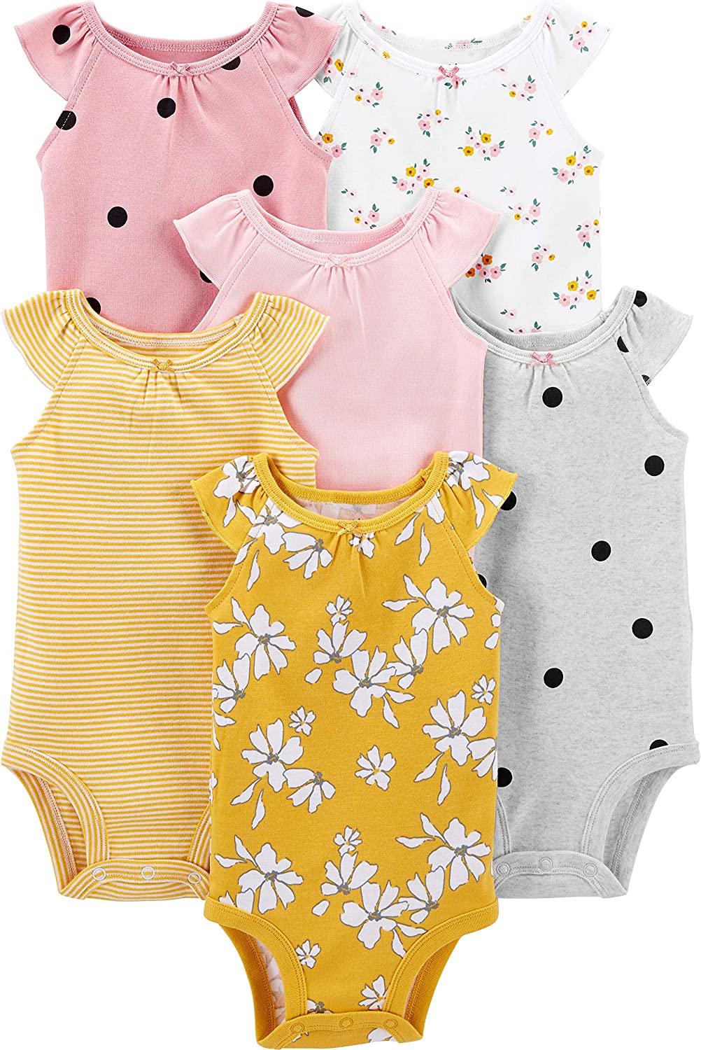 Simple Limited Special Price Joys by Carter's 6-Pack Bodysuit Sleeveless Baby Deluxe