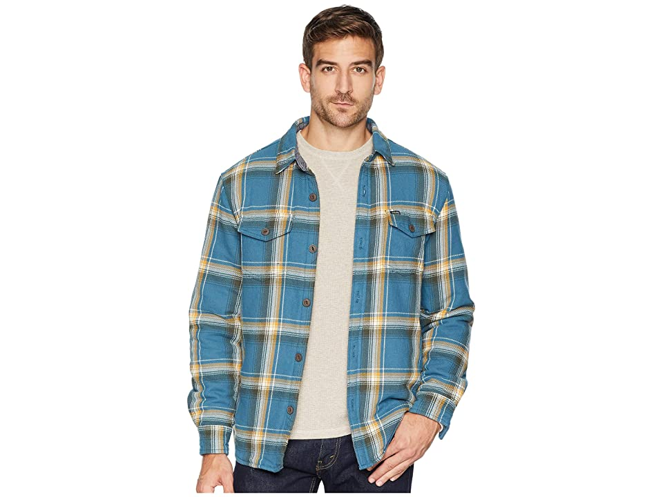 True Grit Summit Shirt Jacket with Ultra Soft Faux Sherpa Lining (Blue) Men