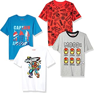 Amazon Brand - Spotted Zebra Boys Disney Star Wars Marvel Short-Sleeve T-Shirts