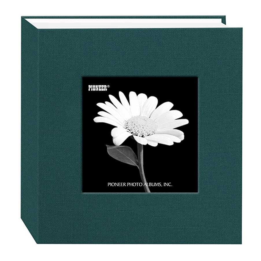 Pioneer 100 Pocket Fabric Frame Cover Photo Album, Majestic Teal