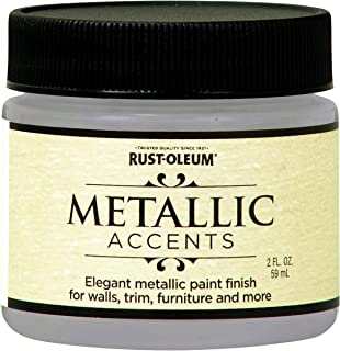 Rust-Oleum 255338 Metallic Accents Paint, 2 oz Trial Size, White Pearl