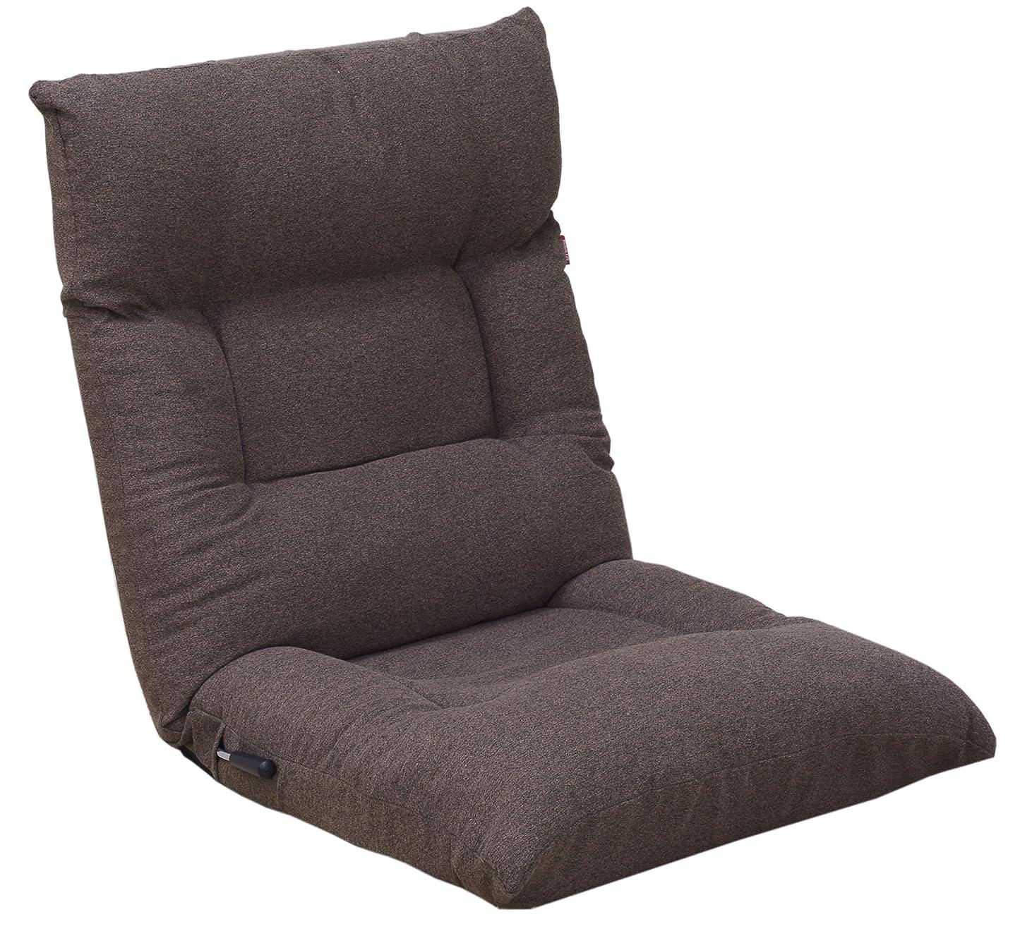 粗い延期する奨励ふっかふかレバー式座椅子 ダークブラウン FHWD-ミストDBR