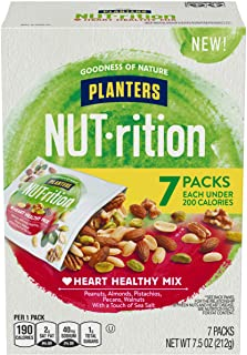 NUT-rition Heart Healthy Mix with Walnuts, 7.5 oz Box (Contains 7 Individual Pouches) - On-the-Go Snack, Work Snack, School Snack and Active Lifestyle Snack - Great Camping Snacks - Kosher