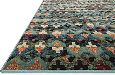 Loloi VISTA Area Rug, 2-Feet 3-Inch by 3-Feet 9-Inch, Blue/Multicolored