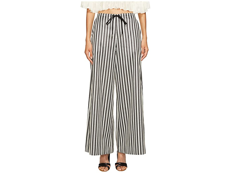 McQ Super Kick Flare Pants (Striped Black/White) Women