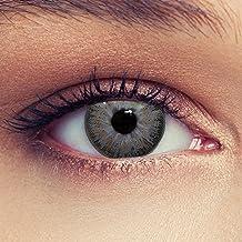 Lente de contacto de color azul, verde, gris, marrón, púrpura; lente suave y natural