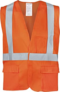 Ironwear 1284FR-OZ-6-3XLG ANSI Class 2 Flame Retardant Polyester Mesh SAFETY Vest with Zipper & 2