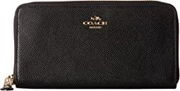 COACH - Crossgrain Leather Accordion Zip Wallet