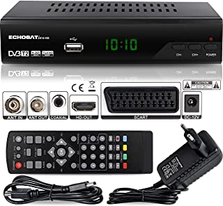 comprar comparacion Echosat 2910 DVBT2 - Receptor Full HD 1080P 4K para TV (HEVC/H.265 HDMI SCART, USB 2.0, DVBT-2, DVB-T2, DVB T2, DVBT 2), R...