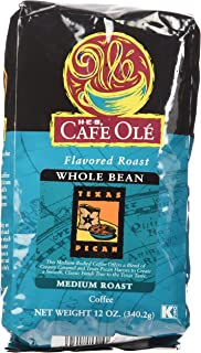 HEB Cafe Ole Whole Bean Coffee 12oz Bag (Pack of 3) (Texas Pecan - Medium Dark Roast (Full City))