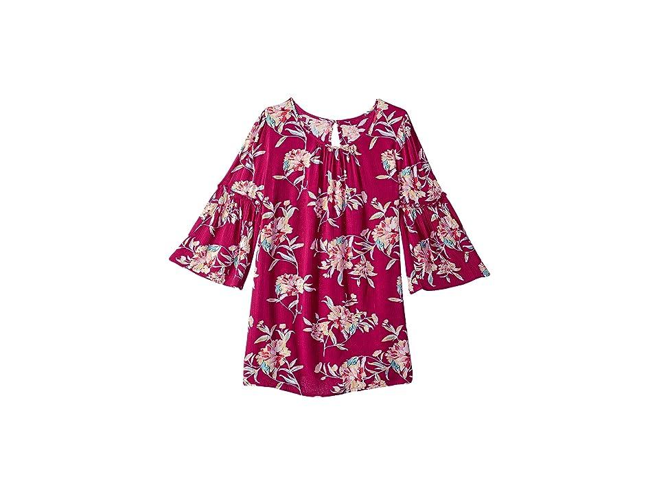 Billabong Kids Vacation Mode Dress (Little Kids/Big Kids) (Raspberry) Girl