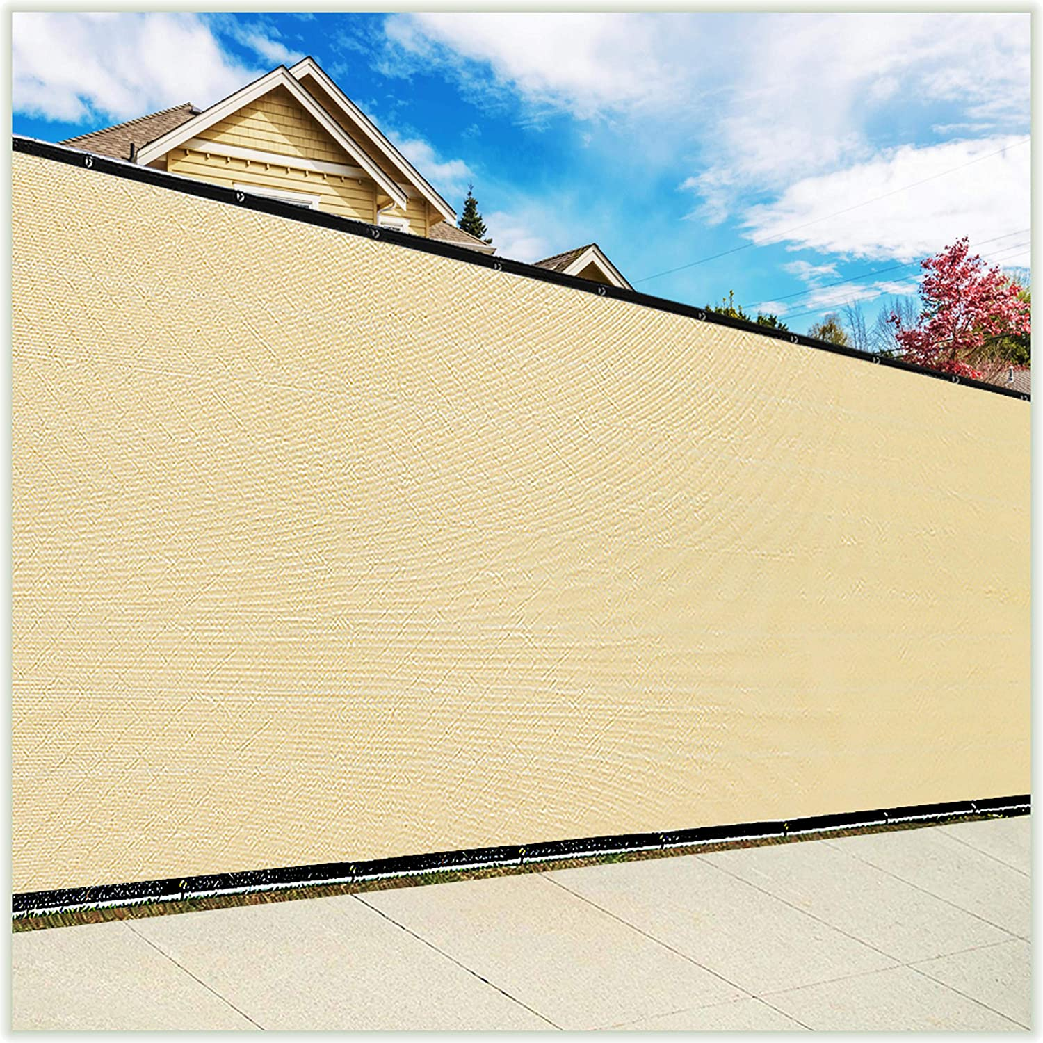 ColourTree Customized Size Fence Screen 8' Privacy Regular Surprise price dealer Beige