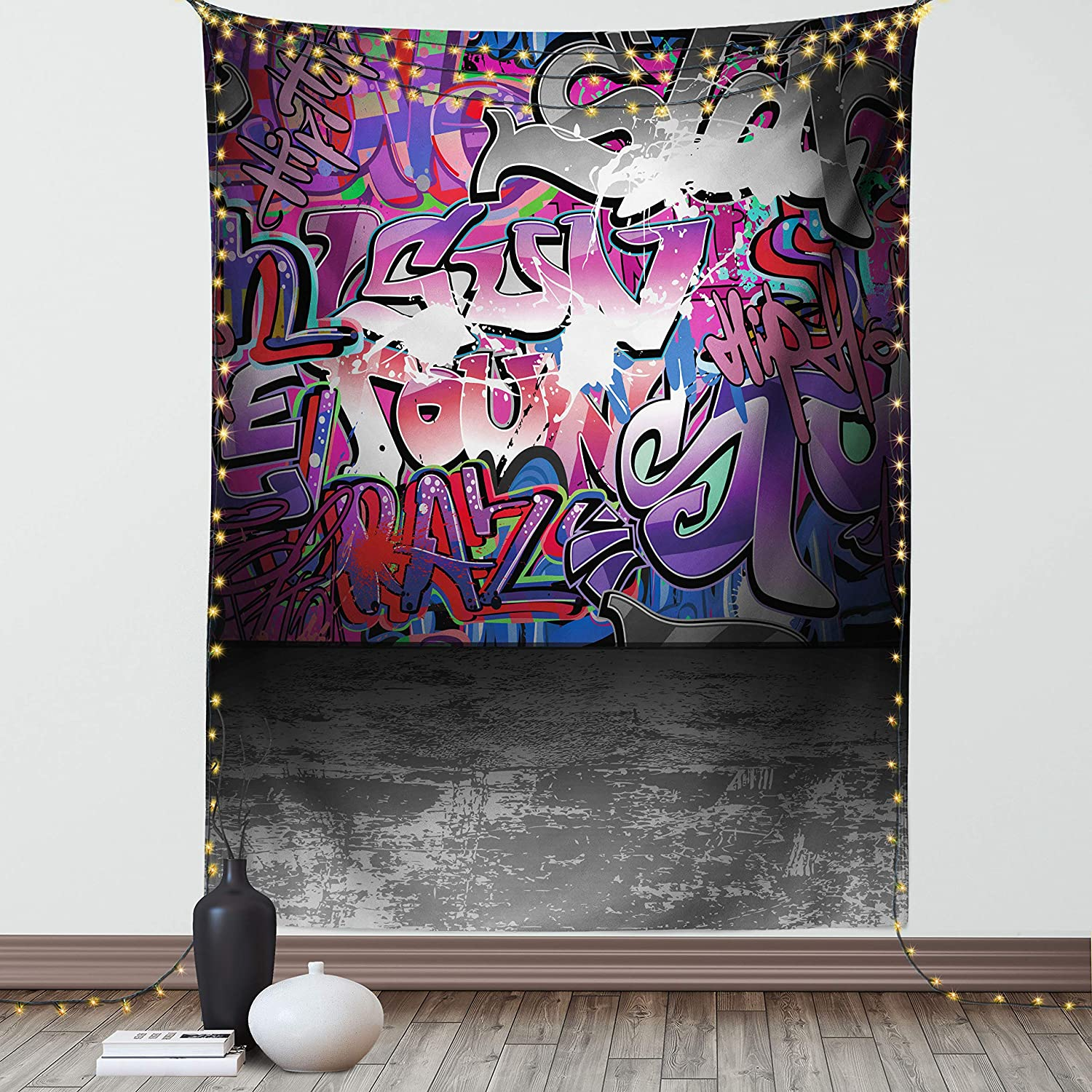 Ambesonne Graffiti Tapestry Urban Life Street Art B Albuquerque Mall Grunge Wall Special price
