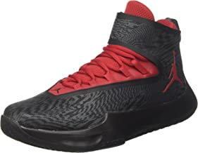 Nike Jordan Mens Fly Unlimited Anthracite Gym Red Textile Trainers 42.5 EU