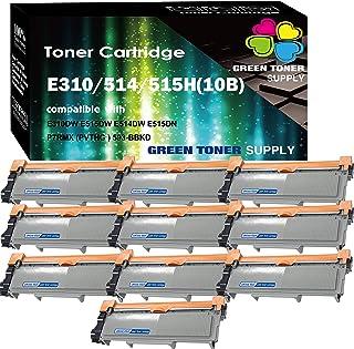 (10 Pack, Black) GTS Compatible E310 E515 593-BBKD Toner Cartridge Replacement (PVTHG) Dell E310dw E514dw E515dw E515dn Printer