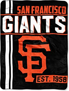 Northwest MLB San Francisco Giants Micro Raschel Throw, One Size, Multicolor