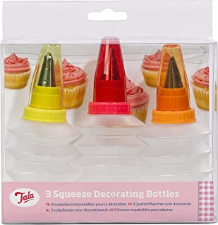 Tala Squeezy Icing Bottles and Nozzles, Mixed (Set of 3)