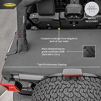 Amazon Com Smittybilt 761435 Black Diamond Tonneau Cover Extension 4 Door Automotive
