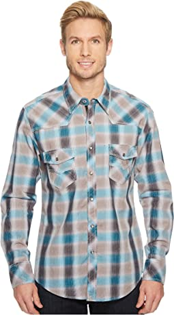 Rock and Roll Cowboy - Plaid Long Sleeve Snap B2S5731