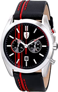 Men's 0830177 D 50 Analog Display Quartz Black Watch