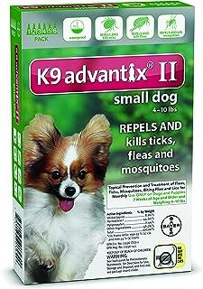 K9 Advantix Flea & Tick Medication for Dogs Supply: 6 Months, Pet Weight: Under 10 lbs
