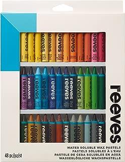 Reeves Water Soluble Wax Pastels - Pack of 48