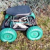 Tri Rollsitz Fahrbare Sitzgelegenheit Gartengerät Mobiler Gartensitz Gartenwagen Gartenhelfer Rollwagen 49 X 33 X 47 Cm Tri Garten