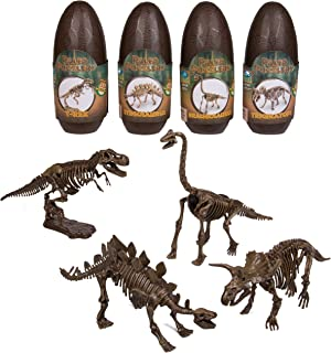 Dinosaur 3D Puzzle - 10'' Assorted Paleo Dino Skeletons (EA) - Open The Egg And Construct One Of 4 Different Dinosaurs