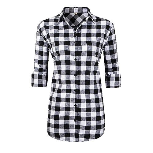 392db6c5e0e97 Black and White Check Shirt: Amazon.co.uk