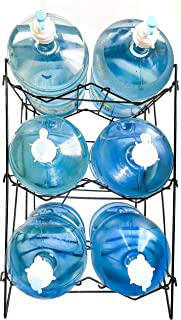 3 To 5 Gallon Water Bottle Jug Shelf Rack Holder Stand Kitchen Storage Instant Set Up Stainless Steel Heavy Duty Collapsible Sturdy Durable Portable Fits Anywhere Only 11 LBS Holds 400+ LBS