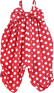 LELEFORKIDS - Toddlers and Girls (2T-7/8) Happy-Bee Polka Dots Jumpsuit