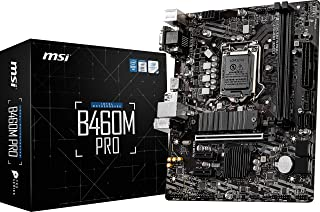 MSI B460M PRO Gaming Motherboard LGA1200 10th Gen mATX MB 2xDDR4 3xPCIE 1xM.2 RAID 6xSATAIII 1xHDMI 1xDVI-D 1xVGA 6xUSB3.2...