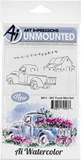 ART IMPRESSIONS Watercolor Stamp Truck Mini, other, One Size