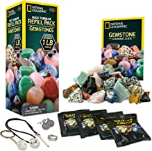 NATIONAL GEOGRAPHIC Rock Tumbler Refill Kit - Gemstone Mix of 9 varieties including Tiger's Eye, Amethyst and Quartz - Com...