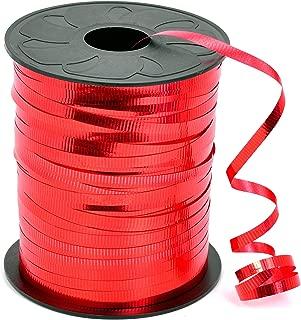 HIART Curling Ribbon, 3/16-Inch x 500-Yard, Metallic Red